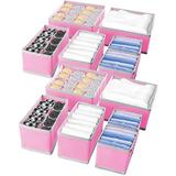Lattice Routh 12 Pack Foldable Drawer Organizers, Storage Boxes in Pink, Size 4.7 H x 11.0 W x 11.0 D in | Wayfair 9KJN7O08SQTG5JY-02