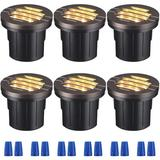 IMMORTAL 6W Well Lights LED Low Voltage 12-24V, In-Ground Lighting, 3000K UL Listed Cable, IP67 Waterproof Landscape Lights For Yard, Garden, Patio