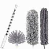 """IMMORTAL GOODS Microfiber Feather Duster, Cobweb Duster & Ceiling Fan Duster Cleaner Brush Kit w/ Extension Pole Up To 100"""" For Cleaning Roof"""