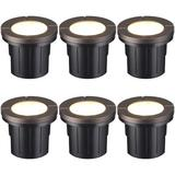 LEONLITE Low Voltage Hardwired Inground Led Well Light, 6w Flat Top, 3000k Warm White Aluminium/Metal in Black/Gray   Wayfair 89493