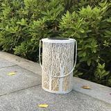 UNOMOR LED Solar Lantern Cylindrical Forest Hanging Solar Light Waterproof Lanscape Lamp For Patio Courtyard Garden in Brown/Gray/White | Wayfair