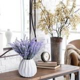 Primrue 8 Bundles Artificial Flowers Outdoor Lavender Bouquet Fake Lavender Plant For Wedding Home Garden Decor, Size 14.5 H x 6.46 W x 2.6 D in