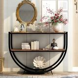 17 Stories Wood Console Table in Brown, Size 33.7 H x 47.2 W x 15.0 D in   Wayfair 8A446081A19A421B9502948E3DCD94F6