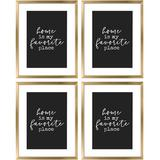 Everly Quinn 4 Pack Modern Large Picture Frames w/ High Definition Glass Display Photos For Gallery Wall Kit Or Home Decoration Plastic | Wayfair