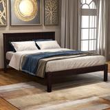 Red Barrel Studio® Platform Bed Frame w/ Headboard, Wood Slat Support, No Box Spring Needed, twin,espresso, Size 42.0 W x 76.0 D in   Wayfair