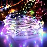The Holiday Aisle® Outdoor String Fairy Lights 2M 5M 10M 20M 200LED Copper Wire Fairy Lights Wedding Xmas Party Decor Christmas Decoration For Garden Street