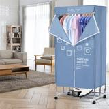 CHUNBIEGSR INC Portable Clothes Dryer in Black/White, Size 19.69 H x 58.27 W x 28.74 D in | Wayfair THZ1851014