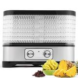 LEANO LIMITED Food Dehydrator Machine Professional Electric Multi-tier Food Preserver For Meat Or Beef Fruit Vegetable Dryer in Black/Gray   Wayfair