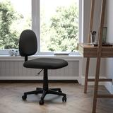 Flash Furniture Office Chair Upholstered in Black, Size 36.0 H x 10.0 W x 24.0 D in   Wayfair BT-660-BK-GG