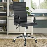 Orren Ellis High Back Swivel Executive Conference Office Chairs Upholstered in Black/Gray, Size 43.3 H x 18.9 W x 19.7 D in | Wayfair