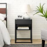 Latitude Run® Night Stand Wood in Black, Size 21.8 H x 15.8 W x 13.8 D in | Wayfair A6F54B1481F848989FC16E2F616A03D0