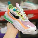 Nike Shoes   Nike Wmns Air Max 270 React Sewhite Black Skyblue270 Rhea Racing Series Rear P   Color: Black/Blue/Red/White   Size: Various