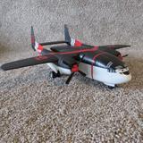 Disney Toys | Disney Pixar Planes Fire Resue Plastic Ppf 51 Cabbie Transporter 2013 16 Inch Ai | Color: Black/Red | Size: Osb