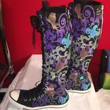 Converse Shoes   Converse Knee High Sneakers   Color: Black/Purple   Size: 7
