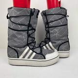 Adidas Shoes | Adidas Women'S Original Moon Honey Boots Us 8.5 Midcalf Blackwhite Winter Snow | Color: Black/White | Size: 8.5