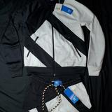 Adidas Other | Matching Black & White Adidas Athletic Set Size Xs Jacket And Shorts New W Tags | Color: Black/White | Size: Xs