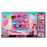 L.O.L. Surprise! O.M.G. 4-in-1 Airplane Dollhouse Playset, Multicolor