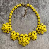 J. Crew Jewelry   J. Crew Crystal Necklace   Color: Gold/Yellow   Size: 16-18