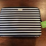Kate Spade Accessories | Kate Spade Black & White Stripe 13 Laptop Casesleeve | Color: Black/White | Size: 13 Inch