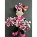 Disney Toys   9 Disney Sparkle Minnie Mouse Cheerleader Ty Beanie Baby Pink Dress Plush Toy   Color: Pink   Size: Osg