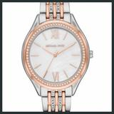Michael Kors Accessories | Michael Kors Silver And Rose Gold Watch | Color: Gold/Silver/Tan/White | Size: Os