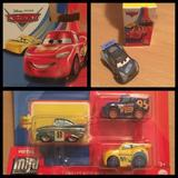 Disney Toys | 4 Cars Metal Mini Racers Disney Pixar Die Cast Lot | Color: Blue/Red | Size: Metal Mini Racer