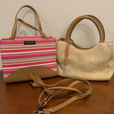 Kate Spade Bags   Kate Spade And Fossil Mini Handbags Purses With Extra Strap   Color: Pink/Tan   Size: Os