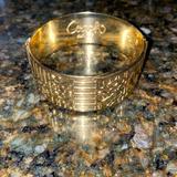 Coach Jewelry | Coach Gold-Tone Bangle Bracelet | Color: Gold | Size: Os