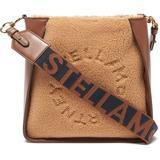 Stella Mini Logo-strap Faux-leather Shoulder Bag - Brown - Stella McCartney Shoulder Bags