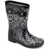 Rain Buckle Tall Regular Calf Lug Sole Rain Boots - Black - Kenneth Cole Reaction Boots