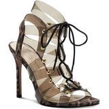 Jaray Lace-up Lucite Stud Dress Sandals - Natural - Jessica Simpson Heels