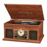 Victrola Walden Bluetooth Record Player, Brown