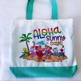 Disney Bags | Disney Aulani Duffy And Friends Beach Tote Bag | Color: Green/White | Size: Os