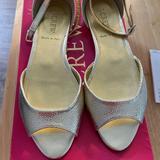 J. Crew Shoes   Nib J. Crew Metallic Gold Peep Toe Flats   Color: Gold   Size: 5.5