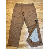 Carhartt Pants   Carhartt Flame Resistant Overall Quilt Lined Dung   Color: Brown   Size: 40