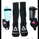 Adidas Other | Child Soccer Shinguards & Socks | Color: Blue/Pink | Size: Osg