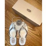 Coach Shoes   Brand New, Never Worn - Fluffie Ugg Flip Flip (Sand Gold) - Size 8   Color: Cream/Tan   Size: 8