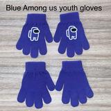 Disney Accessories | Blue Among Us Sus Imposter Youth Gloves New | Color: Blue/White | Size: Osb