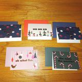 Kate Spade Office   Kate Spade Christmas Cards Holiday Cards Bundle   Color: Blue/Green   Size: 3.5 H * 5 W