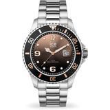 Quartz Brown Dial Stainless Steel Unisex Watch - Metallic - Ice-watch Watches