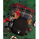 Pasha Casual Gloves Mixed - Black Elk Hat Gift Box Set