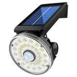 ROPALIA 32 LED Solar Flood Lights,Motion Sensor Security Outdoor Lamp For Street Wall Yard in Black | Wayfair HXLAHCP6473612A-888