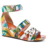 Tiffanita Wedge Sandal - White - Spring Step Heels