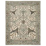 Canora Grey Cartee Hand Braided Wool Ivory/Light Teal Area Rug Wool in Blue/Green/White, Size 120.0 W x 0.25 D in | Wayfair RUG144401