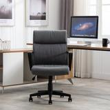 Ebern Designs Ergonomic Office Chair, Upholstered Fabric High Back Home Office Chair w/ Armrest, Adjustable Height Swivel Computer Chair w/ 6 Wheels