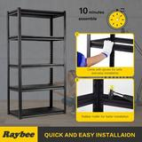 "Rebrilliant Garage Shelving Units 5 Tier Heavy Duty Garage Storage Metal Shelves w/ 2000 LBS Capacity Commercial Steel Storage Shelf Rack 32"" W X 16.5"" D X 63"""