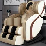 Inbox Zero Real Relax Massage Chair, Full Body Zero Gravity 8D Electric Shiatsu Massage Recliner w/ Bluetooth Heat Foot Roller, (Khaki & Beige)