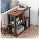 Latitude Run® End Table 3-Tier Chair Side Table Night Stand w/ Storage Shelf For Room in Brown, Size 24.8 H x 23.6 W x 11.8 D in | Wayfair