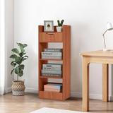 Latitude Run® 13-Inch Modern Simpleness Three-Layer Shelf & 1 Drawer Bookshelf Storage Cabinet (Brown), Size 35.4 H x 13.0 W x 9.5 D in   Wayfair