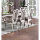 Canora Grey Set Of 2 Dining Chairs Grey Upholstered Tufted Unique Design Chairs - Back Cushion Seat Dining Room Wood/Upholstered in Gray | Wayfair
